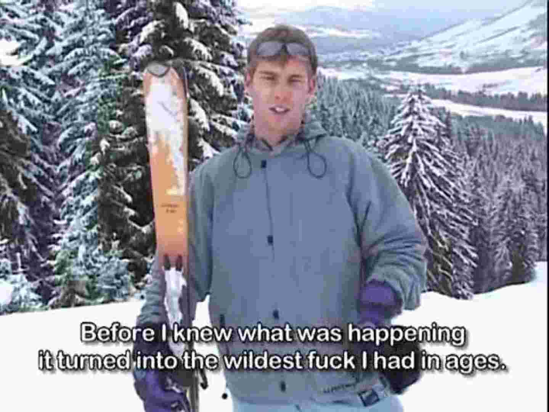 真冬の山上のログハウスで仲良くセックス! フェラ男子 ペニス画像 105連発 35