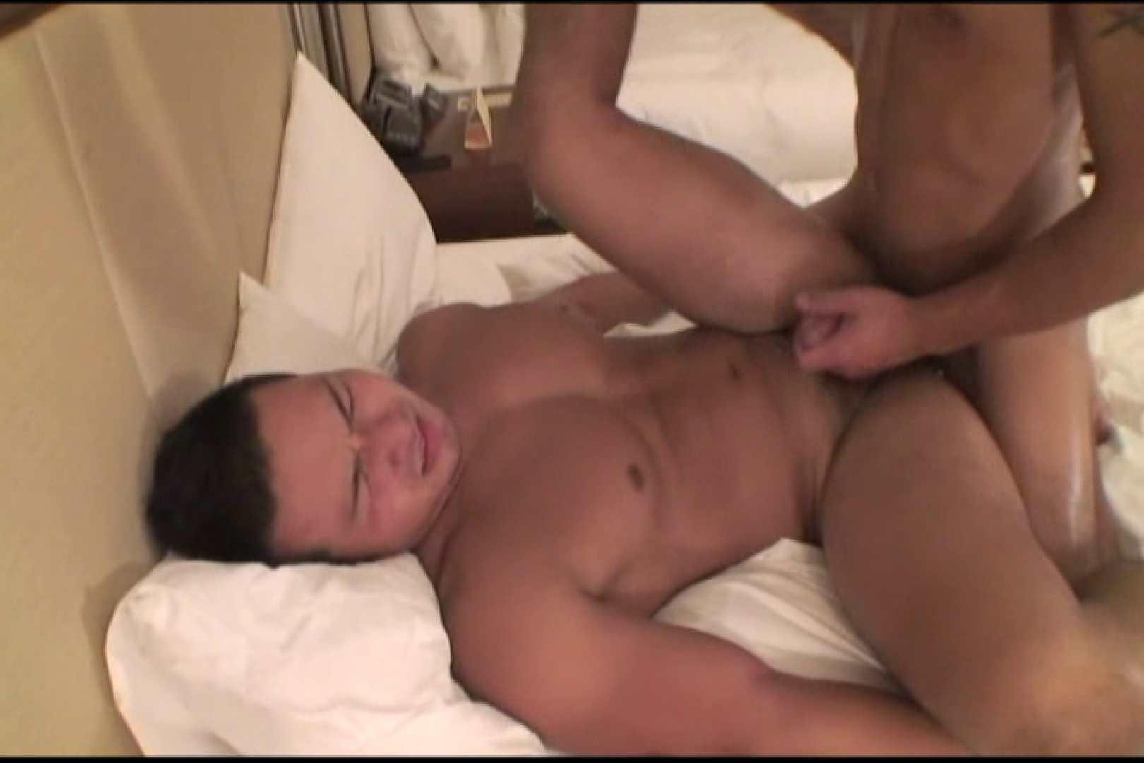 短髪ラガーマン風男子、乳首を舐められ悶絶顔 念願の完全無修正 ゲイセックス画像 84連発 15