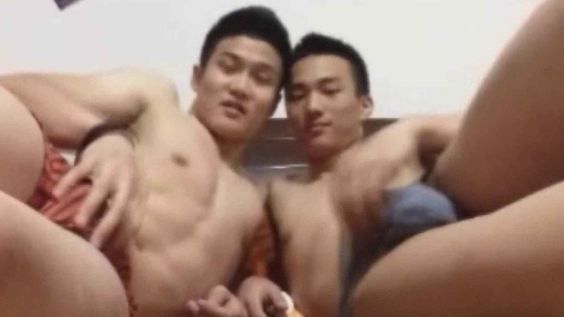 二人のオナニー痴情前編 念願の完全無修正 ゲイ無修正動画画像 91連発 2